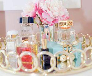 perfume, flowers, and beauty image