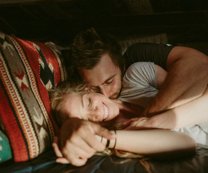 boho, couple, and cuddle image
