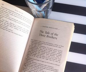 deathly hallows, harry potter, and book image