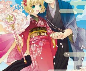 anime couple, sakura card captor, and sakura kinomoto image