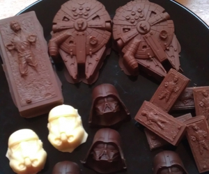 star wars, chocolate, and food image