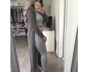 fashion, clothes, and gray image