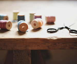 sewing, vintage, and thread image
