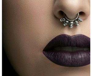 lips, makeup, and skulls image