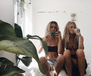 girls, hipster, and summer image