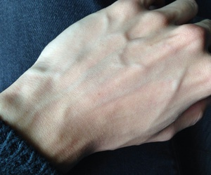 veins, hand, and pale image
