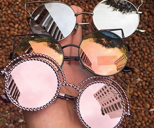 colors, pink, and sunglasses image