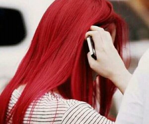 red, hair, and f(x) image