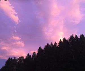 nature, purple, and sky image