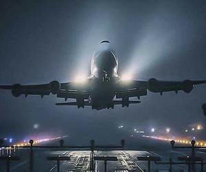 calm, plane, and travel image