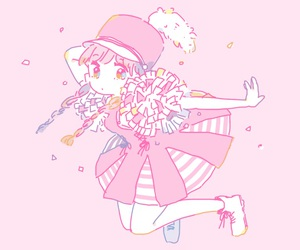 anime, pink, and pastel image