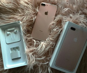 iphone 7, iphone, and rose gold image