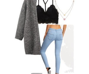 bralette, clothes, and coat image