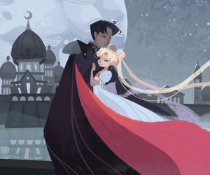 sailor moon, love, and tuxedo mask image