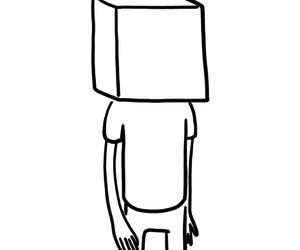 box, drawing, and person image