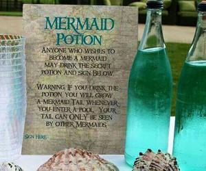 mermaid, potion, and magic image