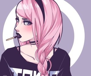black, goth, and pastel image
