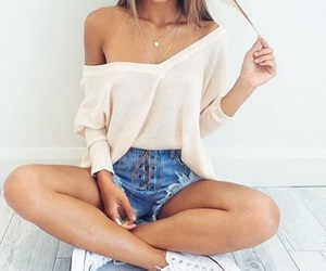 apparel, brunette, and fashion image
