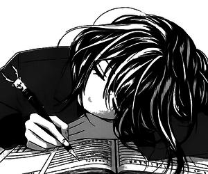 manga, anime girl, and monochrome image