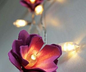 flowers, light, and diy image