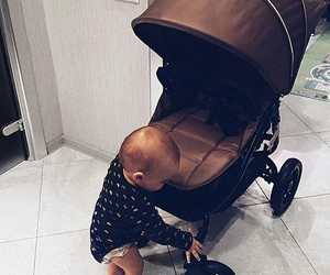 baby, little, and stroller image