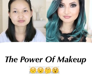 before and after, makeup, and captions image