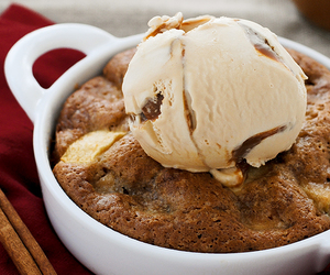 food, cake, and ice cream image