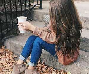hair, fall, and autumn image