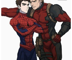 yaoi, spideypool, and vmd image