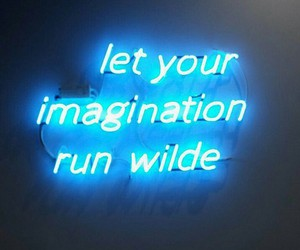blue, imagination, and neon image