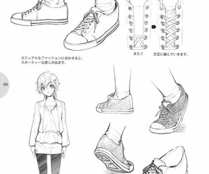 chaussure, dessiner, and references image