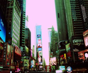city, pretty, and times square image