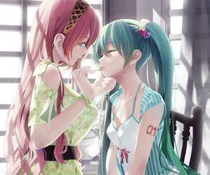 anime, vocaloid, and 2girls image