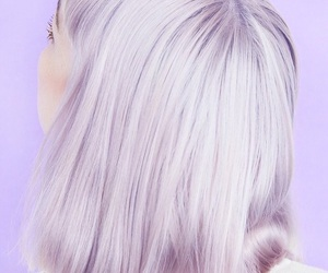hair, purple, and pale image