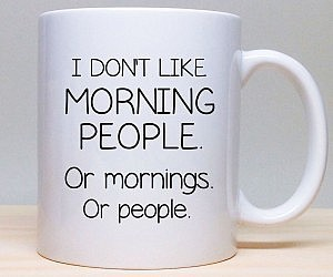 coffee, funny, and morning person image