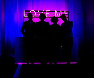 the 1975, love me, and neon image
