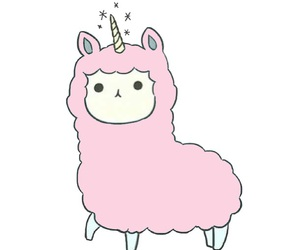 alpaca, pastel, and pink image