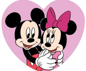 couple, minnie, and mickey image
