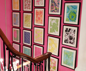 photos, pink, and stairs image