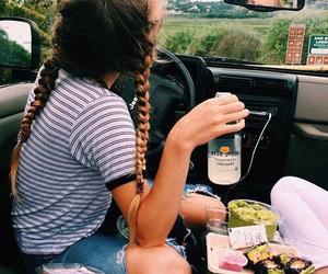 braids, tumblr, and food image