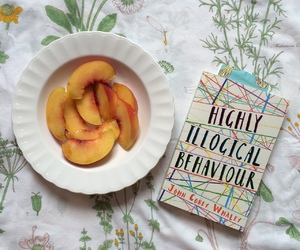 aesthetic, peach, and book image