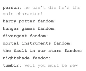 tumblr, fandoms, and harry potter image