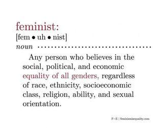 female, feminist, and girls image