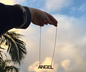 angel, sky, and aesthetic image