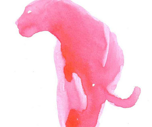 animal, art, and pink image