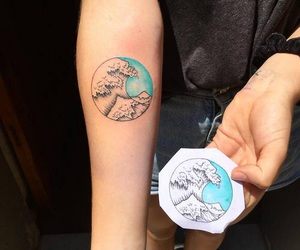 tattoo, tumblr, and waves image