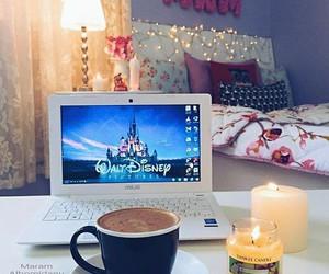 disney, coffee, and bedroom image