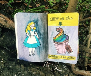 alice in wonderland, chew, and color image