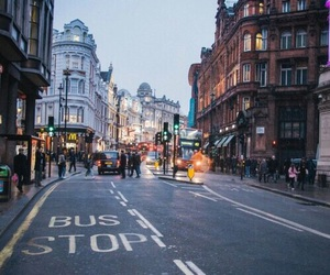 city, london, and street image