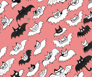 background, bats, and Halloween image